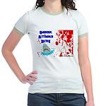 Shark Attacks Bite! Survivor? Jr. Ringer T-Shirt
