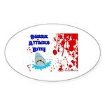 Shark Attacks Bite! Survivor? Oval Sticker