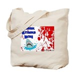 Shark Attacks Bite! Survivor? Tote Bag