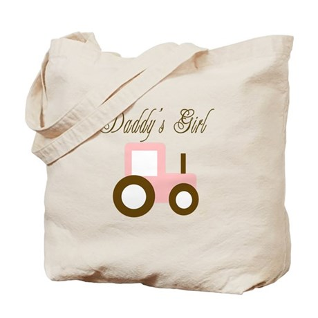 Daddy's Girl - Pink/Brown Tra Tote Bag