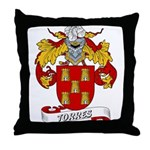 Torres Family Crest Throw Pillow