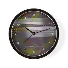 Flux + Stasis in Maroon/Moss Wall Clock