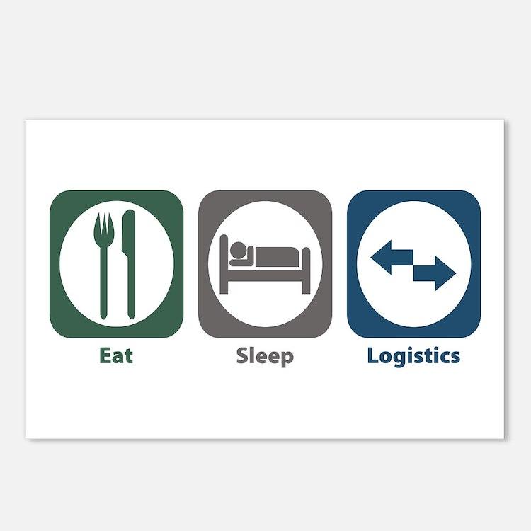 Eat Sleep Logistics Postcards (Package of 8)