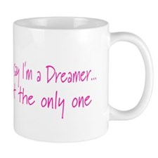 You May Say I'm a Dreamer Pink Peace Sign Coffee Mug