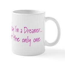 You May Say I'm a Dreamer Pink Peace Sign Small Mug