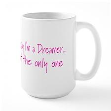 You May Say I'm a Dreamer Pink Peace Sign Mug
