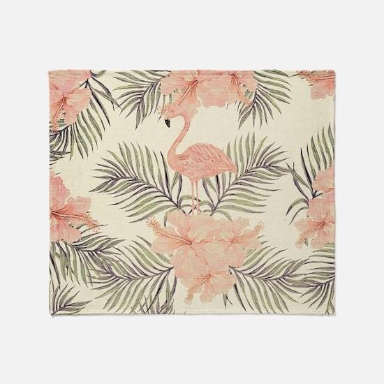Vintage Flamingo Throw Blanket