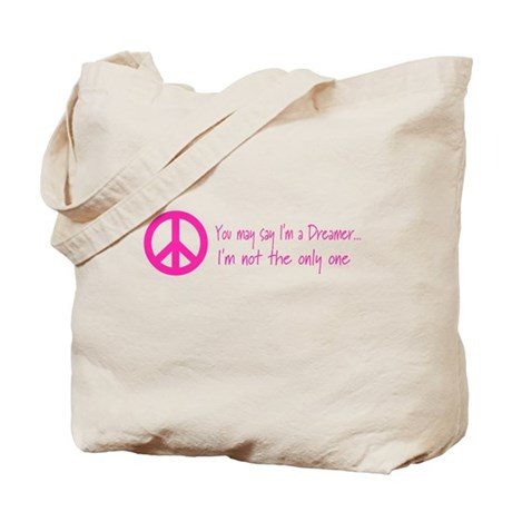 Imagine Peace Sign Tote Bag
