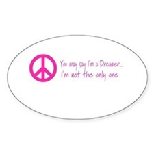 Imagine Peace Sign Oval Decal