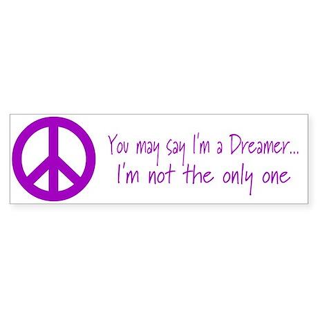 Imagine Peace Sign Bumper Sticker