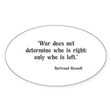 Anti War Oval Decal