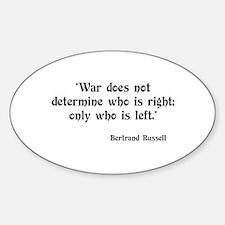 Anti War Oval Decal