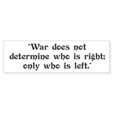 Anti War Bumper Bumper Sticker