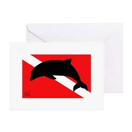 Dolphin Dive Greeting Cards (Pk of 10)