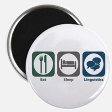 Eat Sleep Linguistics Magnet