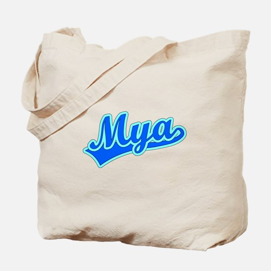 Retro Mya (Blue) Tote Bag