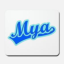 Retro Mya (Blue) Mousepad