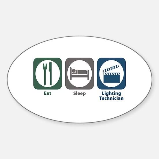 Eat Sleep Lighting Technician Oval Decal