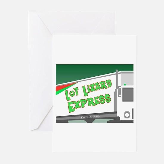 Lot Lizard Trucking Express Greeting Cards (Packag