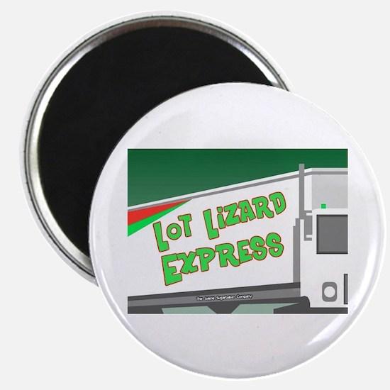 Lot Lizard Trucking Express Magnet