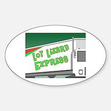 Lot Lizard Trucking Express Oval Decal