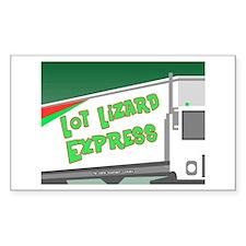 Lot Lizard Trucking Express Rectangle Decal