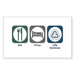 Eat Sleep Life Sciences Rectangle Sticker 10 pk)