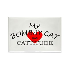 BOMBAY CAT Rectangle Magnet (100 pack)