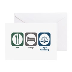 Eat Sleep Legal Assisting Greeting Cards (Pk of 20