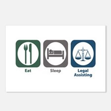Eat Sleep Legal Assisting Postcards (Package of 8)