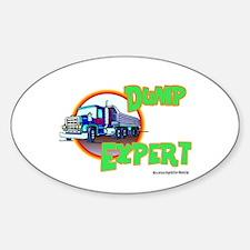 Dump Expert Truck Design Oval Decal