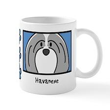 Anime Gray Havanese Small Mug