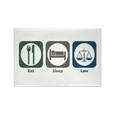 Eat Sleep Law Rectangle Magnet