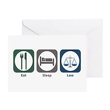Eat Sleep Law Greeting Card