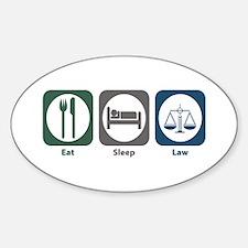 Eat Sleep Law Oval Decal