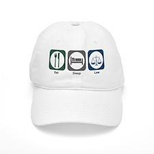 Eat Sleep Law Baseball Cap
