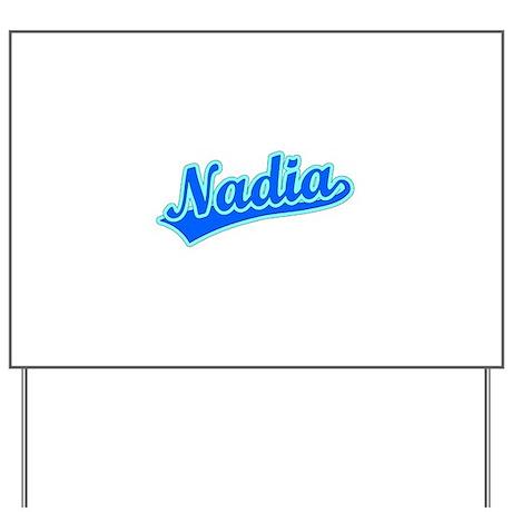 Retro Nadia (Blue) Yard Sign