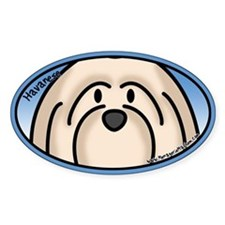 Anime Cream Havanese Oval Decal