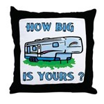 How big is yours? Throw Pillow