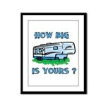 How big is yours? Framed Panel Print