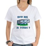How big is yours? Women's V-Neck T-Shirt