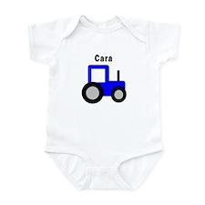 Cara - Blue Tractor Infant Bodysuit