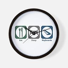 Eat Sleep Keyboards Wall Clock