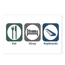 Eat Sleep Keyboards Postcards (Package of 8)