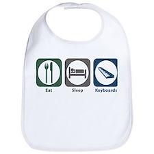 Eat Sleep Keyboards Bib