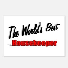 """"""" The World's Best Housekeeper"""" Postcards (Package"""