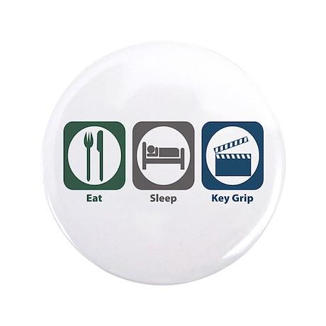 "Eat Sleep Key Grip 3.5"" Button (100 pack)"