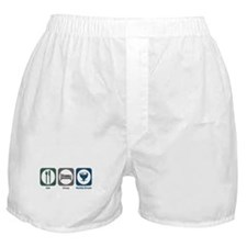 Eat Sleep Kettle Drum Boxer Shorts