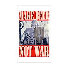 Make Beer Not War Rectangle Sticker 50 pk)