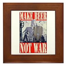 Make Beer Not War Framed Tile